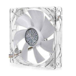 Cooler Gabinete 12cm Akasa Acrilico C/ Branco Quiet Fan - Ak-Fn055