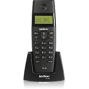 Ramal sem Fio Digital Intelbrás TS 40R Preto Para Bases TS 40 ID, TS 60 V, TS 3110 ou TS 3130 - Intelbrás