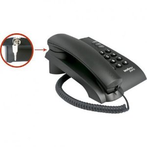 Telefone Fixo Pleno com Chave Preto - Intelbras