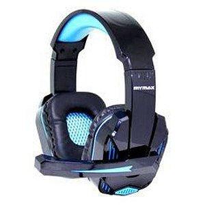 Fone Headset Ultimate Gamer Usb Cabo 2.25m  Nylon Preto/azul - Mymax