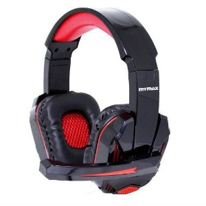 Fone Headphone Gamer Usb 2.4m Cabo Nylon Preto/vermelho