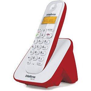 Telefone Sem Fio Com Identificador Branco/Vermelho TS 3110 Intelbras