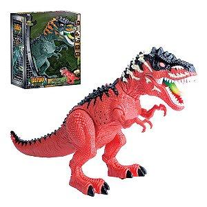 Dinossauro do valley anda põe ovo com projeções e luz
