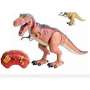 Jurassic Rex Dinossauro Luz Som Movimento Controle Remoto