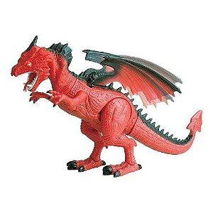 Dinossauro Dragão Luz Som Movimento Controle Remoto-jurassic