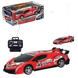 Carro Monte Carlo Controle Rayubrig 4 Funcoes Vermelho