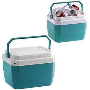 Caixa Termica De Plastico Verde 6 Litros 20,8x21,3x28,3cm