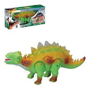 Dinossauro Estegossauro Com Som, Luz E Movimento Verde