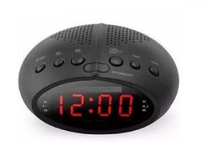 Radio Relógio Digital Fm Alarme Temporizador cr2466 110/220v