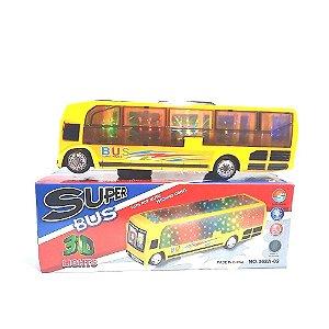 Carrinho Super Bus Eletrônico Com Som E Leds Onibus Infantil
