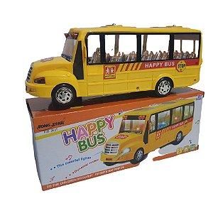 Carrinho Happy Bus Eletrônico Com Som E Leds bate e volta