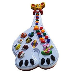 Guitarra Brinquedo 26 Teclas Som Musicas Bichos