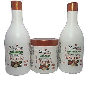Kit Manteiga De Karité Maycrene (shamp + Cond + Másc)
