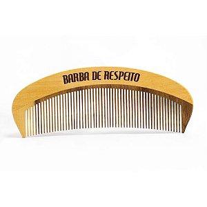 Pente de Madeira Barba e Cabelo - Original - BARBA DE RESPEITO