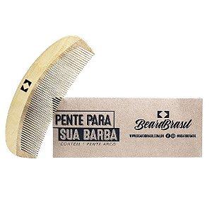 Pente de Madeira Para Barba - em Arco - BEARD BRASIL