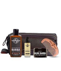 Kit Presente de Cuidados Para Barba + Necessaire Masculina - Barba Brava