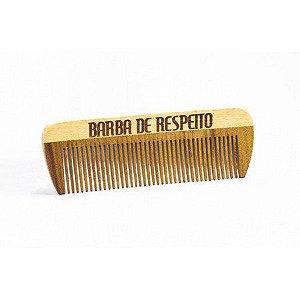 Pente de Madeira para Barba e Cabelo - Pente de Bolso - Barba de Respeito