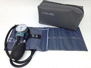 Aparelho pressão arterial adulto nylon metal cinza - P.A. MED