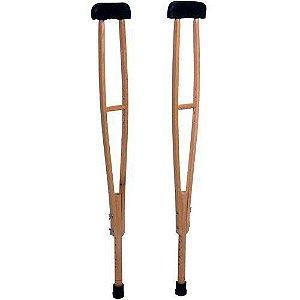 Muleta axilar de madeira (PAR) - Indaiá