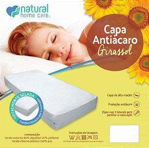 Capa para colchão antiácaro girassol - Natural home care