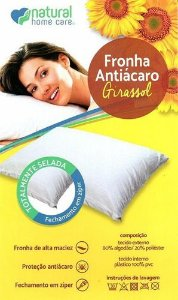Fronha antiácaro girassol - Natural home care