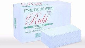 Papel toalha branco extra 2 dobras (1.000 folhas) - Rubi