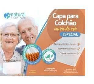 Capa para colchão caixa de ovo com zíper - Natural Home care