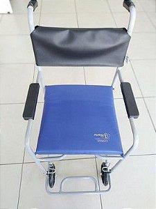 Assento higiênico com capa em courvin para cadeira de banho - Perfeta flex