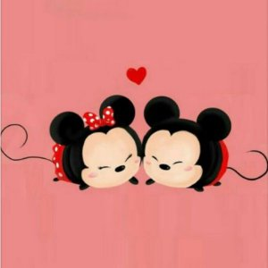 Adesivo Minie e Mickey Casal
