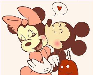 Adesivo Minie e Mickey Casal Romance