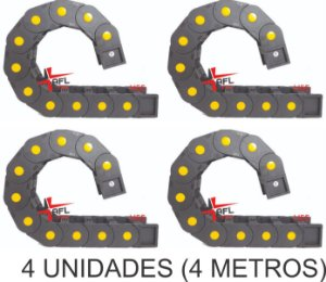 kit 4 Esteira Porta Cabo 100x55mm H55