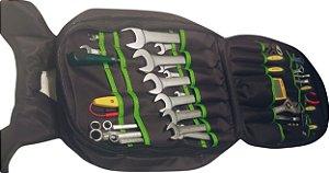 Mochila p/ ferramentas com diversas divisórias. Super resistente! Uso profissional! Cor verde