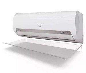 Defletor para Ar Condicionado split de 7.000 a 12.000 BTUs em acrílico transparente - 80x36cm