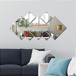 Espelhos Decorativos em Acrílico 7 Peças Quadrado esp001