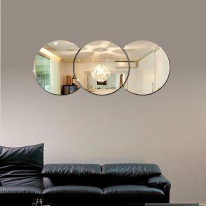 Espelhos Decorativos em Acrílico 3 Círculos esp007