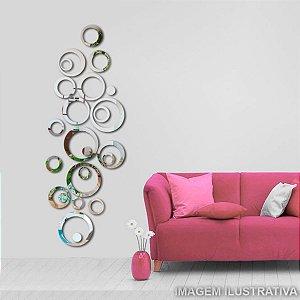 Espelhos Decorativos em Acrílico 24 Peças Círculo Criativos