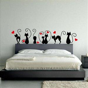 Adesivos de parede Cabeceira 7 Gatos
