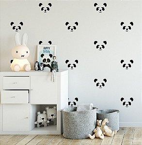 Adesivos de Parede Cabeças de Pandas