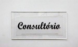 Placa em Acrílico de Identificação Consultório