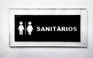 Placa de Acrílico Sanitários