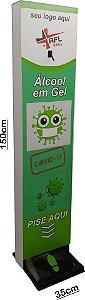 Totem álcool gel personalizável Super Resistente AFLMIX