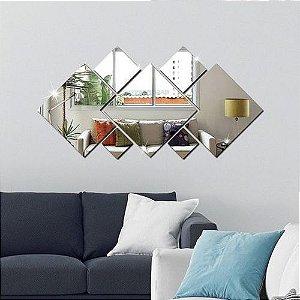 Espelhos Decorativos em Acrílico 7 Peças QuadradoTamanho Grande