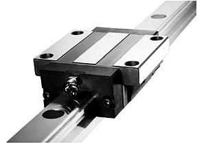 1 Guia/trilho/eixo Linear 20mmx300mm +2carrinhos/patins 20mm