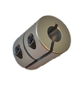 Acoplamento para Motor de Passo 8x6,35 Alumínio