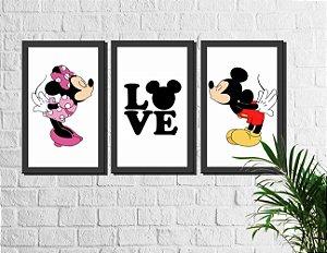 Kit 3 Quadros Decorativos Love 2