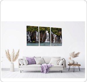 Quadros Decorativos Cavas Cachoeira 3 peças