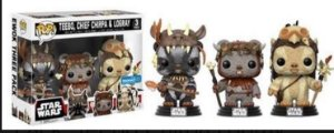 Funko Pop - 3 Pack Star Wars: Teebo, Cheif Chippa E Logray (Exclusivo Walmart)