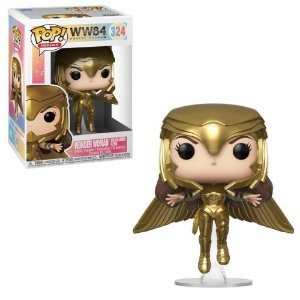 Funko Pop Wonder Woman 1984: Mulher maravilha golden armor Flying 324