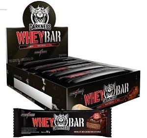 Whey Bar Darkness-Caixa com (8 Un.)-Peanut Butter c/ Amendoim - Integralmédica