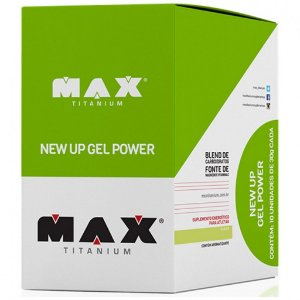 New Up Gel Power - 10 Sachês - Max Titanium-
